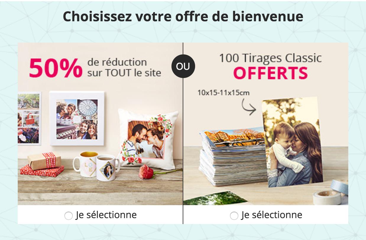 50% de réduction sur vos albums photo en ligne !