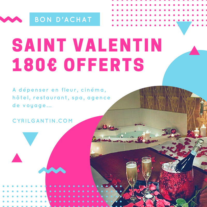 Saint-Valentin : 180 euros offerts