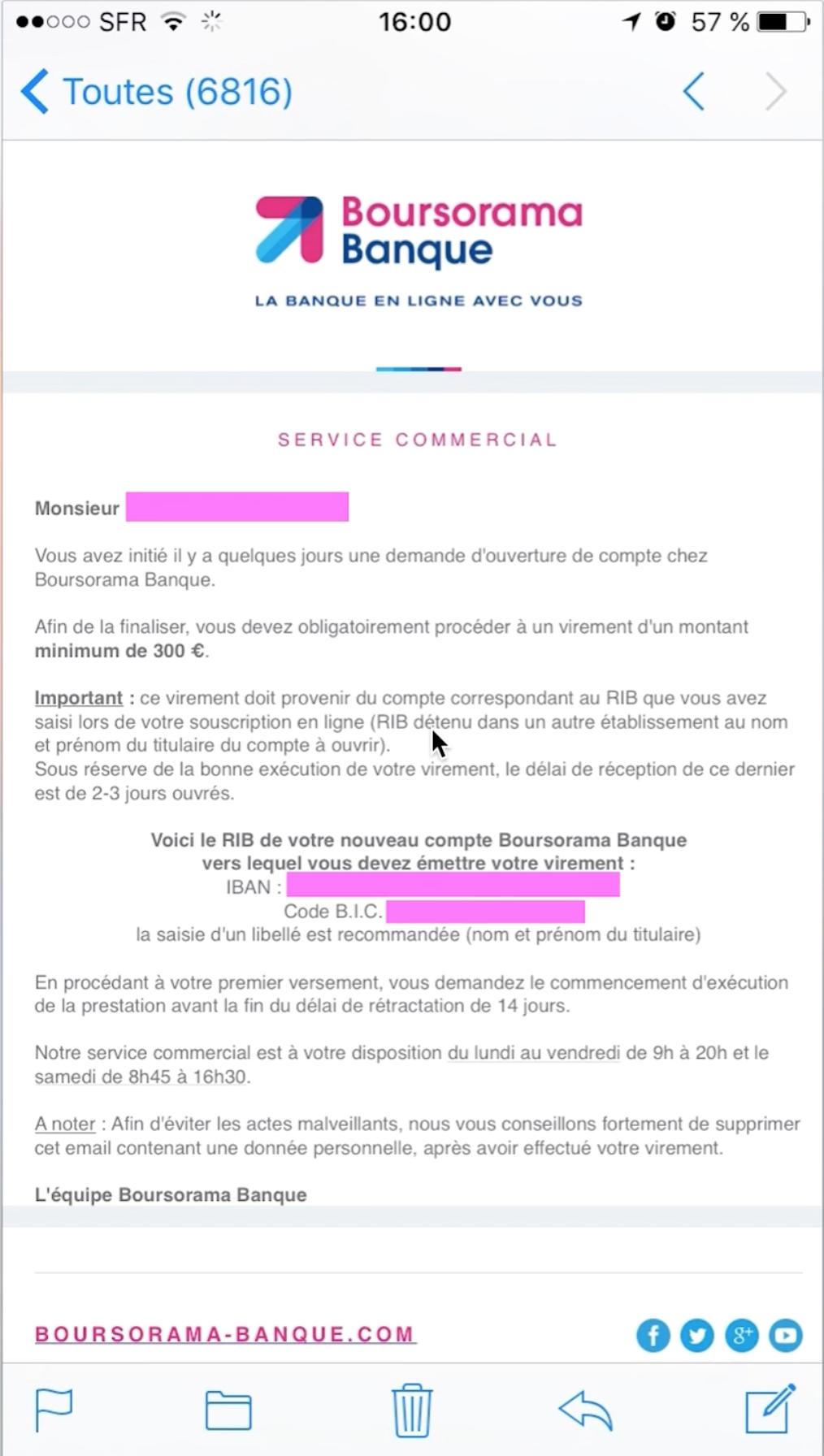 boursorama banque ouverture 300 euros