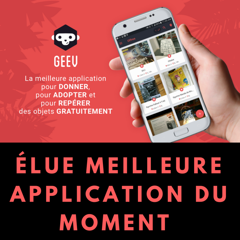GEEV, l'application qui rend ludique le don d'objets