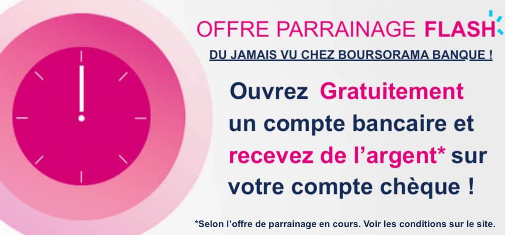 Offre parrainage Boursorama Banque